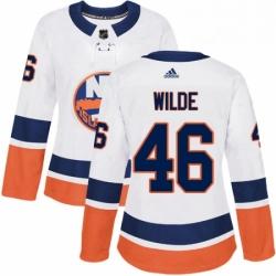 Womens Adidas New York Islanders 46 Bode Wilde Authentic White Away NHL Jersey
