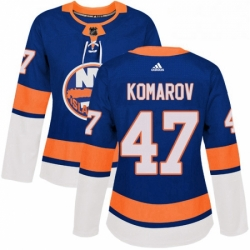 Womens Adidas New York Islanders 47 Leo Komarov Premier Royal Blue Home NHL Jersey