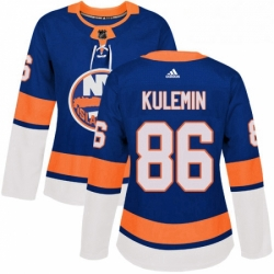 Womens Adidas New York Islanders 86 Nikolay Kulemin Authentic Royal Blue Home NHL Jersey