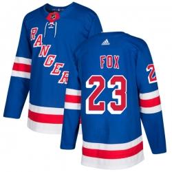 Men Adidas Rangers 23 Adam Fox Royal Blue Home Stitched NHL Jersey