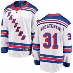 Men Fanatics Branded New York Rangers 31 Igor Shesterkin Breakaway White Away NHL Jersey