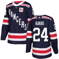 Rangers 24 Kaapo Kakko Navy Blue Authentic 2018 Winter Classic Stitched Hockey Jersey