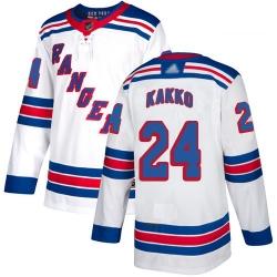 Rangers 24 Kaapo Kakko White Road Authentic Stitched Hockey Jersey