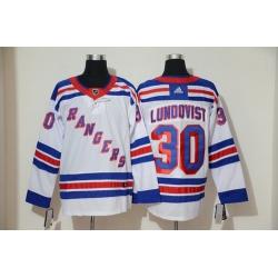 Rangers 30 Henrik Lundqvist White Adidas Jersey