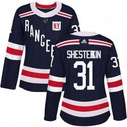 Women Adidas New York Rangers Igor Shesterkin Navy Blue 2018 Winter Classic Home NHL Jersey