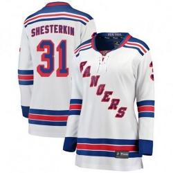 Women New York Rangers 31 Igor Shesterkin Breakaway White Away NHL Jersey