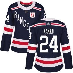 Women Rangers 24 Kaapo Kakko Navy Blue Authentic 2018 Winter Classic Stitched Hockey Jersey