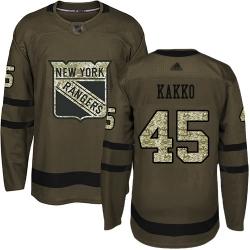 Youth Rangers 24 Kaapo Kakko Green Salute to Service Stitched Hockey Jersey