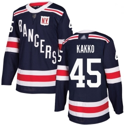 Youth Rangers 45 Kaapo Kakko Navy Blue Authentic 2018 Winter Classic Stitched Hockey Jersey