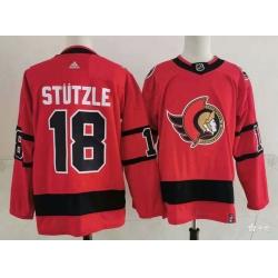 Men Ottawa Senators 18 Tim Stutzle Red 2021 Retro Stitched NHL Jersey