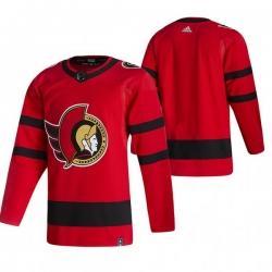 Men Ottawa Senators Blank Red Adidas 2020 21 Reverse Retro Alternate NHL Jersey