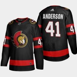 Ottawa Senators 41 Craig Anderson Men Adidas 2020 21 Authentic Player Home Stitched NHL Jersey Black