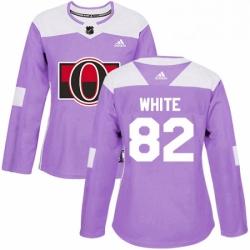 Womens Adidas Ottawa Senators 82 Colin White Authentic Purple Fights Cancer Practice NHL Jersey
