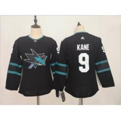 Youth Sharks 9 Evander Kane Black Youth Adidas Jersey