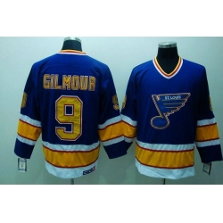 Blues #9 Doug Gilmour Stitched Blue CCM Throwback NHL Jersey