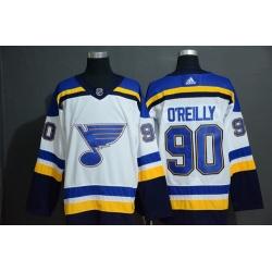 Blues 90 Ryan O 27Reilly White Adidas Jersey