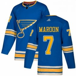 Mens Adidas St Louis Blues 7 Patrick Maroon Authentic Navy Blue Alternate NHL Jersey