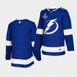 Adidas Lightning Blue Home Authentic 2021 Stanley Cup Champions Jersey