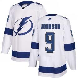Men Adidas Tampa Bay Lightning 9 Tyler Johnson Premier White Home NHL Jersey