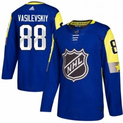 Mens Adidas Tampa Bay Lightning 88 Andrei Vasilevskiy Authentic Royal Blue 2018 All Star Atlantic Division NHL Jersey
