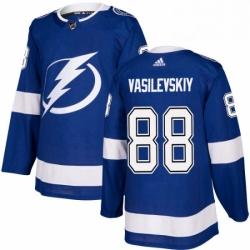 Mens Adidas Tampa Bay Lightning 88 Andrei Vasilevskiy Premier Royal Blue Home NHL Jersey