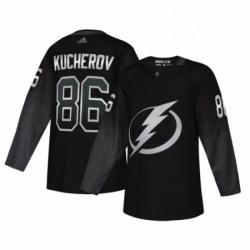Mens Tampa Bay Lightning 86 Nikita Kucherov adidas Alternate Authentic Player Jersey Black