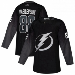 Mens Tampa Bay Lightning 88 Andrei Vasilevskiy adidas Alternate Authentic Player Jersey Black