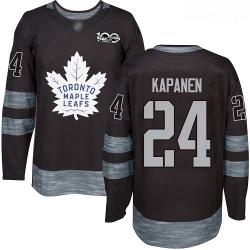 Maple Leafs #24 Kasperi Kapanen Black 1917 2017 100th Anniversary Stitched Hockey Jersey