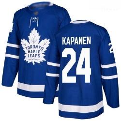 Maple Leafs #24 Kasperi Kapanen Blue Home Authentic Stitched Hockey Jersey