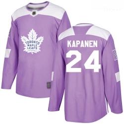 Maple Leafs #24 Kasperi Kapanen Purple Authentic Fights Cancer Stitched Hockey Jersey