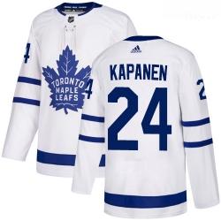 Maple Leafs 24 Kasperi Kapanen White Adidas Jersey