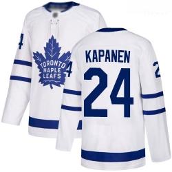 Maple Leafs #24 Kasperi Kapanen White Road Authentic Stitched Hockey Jersey