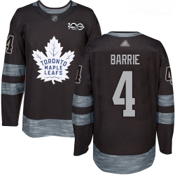 Maple Leafs #4 Tyson Barrie Black 1917 2017 100th Anniversary Stitched Hockey Jersey