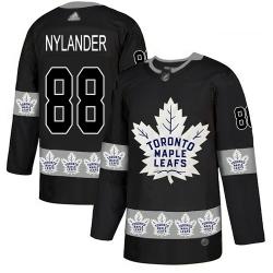 Maple Leafs 88 William Nylander Black Authentic Team Logo Fashion Stitched Hockey Jersey