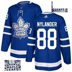 Maple Leafs 88 William Nylander Blue Home Authentic Fashion Gold Stitched Hockey Jersey