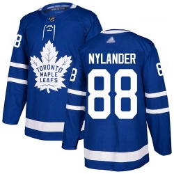 Maple Leafs 88 William Nylander Blue Home Authentic Stitched Hockey Jersey