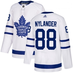 Maple Leafs 88 William Nylander White Road Authentic Stitched Hockey Jersey