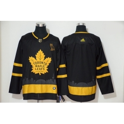 Maple Leafs Blank Black Gold Adidas Jersey