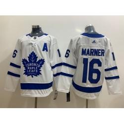 Men Toronto Maple Leafs 16 Mitchell Marner White Adidas Jersey