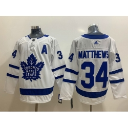 Men Toronto Maple Leafs 34 Auston Matthews White Adidas Jersey
