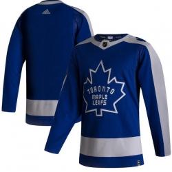 Men Toronto Maple Leafs Blank Blue 2020 21 Reverse Retro Adidas Jersey