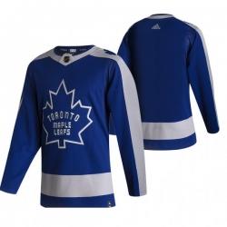 Men Toronto Maple Leafs Blank Blue Adidas 2020 21 Reverse Retro Alternate NHL Jersey