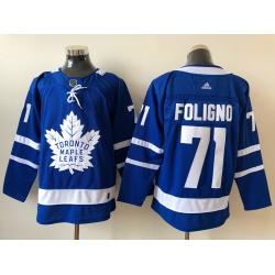 Men Toronto Maple Leafs Nick Foligno 71 Blue Alternate NHL Jersey