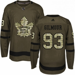 Mens Adidas Toronto Maple Leafs 93 Doug Gilmour Authentic Green Salute to Service NHL Jersey