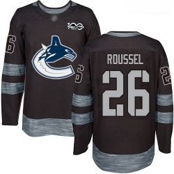 Canucks #26 Antoine Roussel Black 1917 2017 100th Anniversary Stitched Hockey Jersey