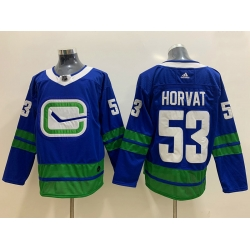 Canucks 53 Bo Horvat Blue Adidas Jersey