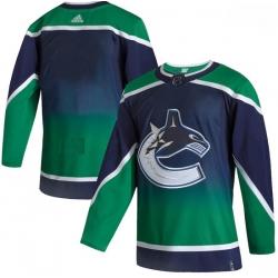 Men Vancouver Canucks Blank Green 2020 21 Reverse Retro Adidas Jersey