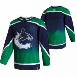 Men Vancouver Canucks Blank Green Adidas 2020 21 Reverse Retro Alternate NHL Jersey