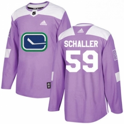 Mens Adidas Vancouver Canucks 59 Tim Schaller Authentic Purple Fights Cancer Practice NHL Jersey