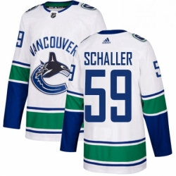 Mens Adidas Vancouver Canucks 59 Tim Schaller Authentic White Away NHL Jersey